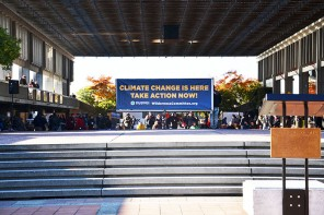 Students, activists gather at SFU to protest Kinder Morgan pipeline
